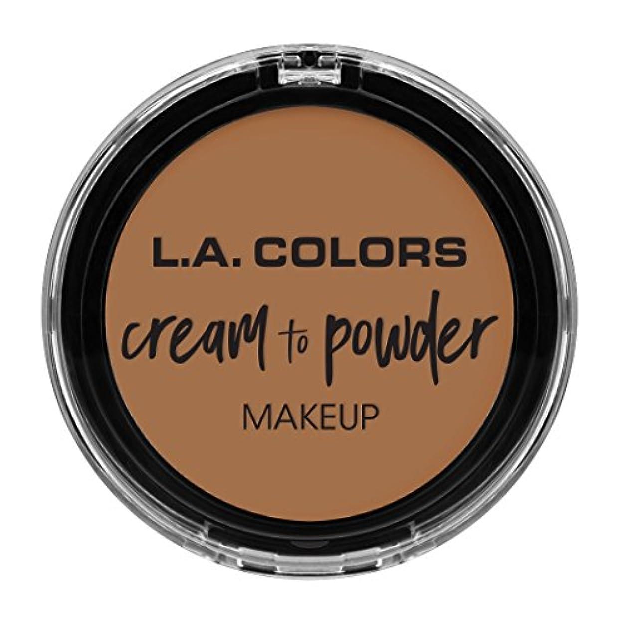 カラス少ない腰L.A. COLORS Cream To Powder Foundation - Soft Honey (並行輸入品)