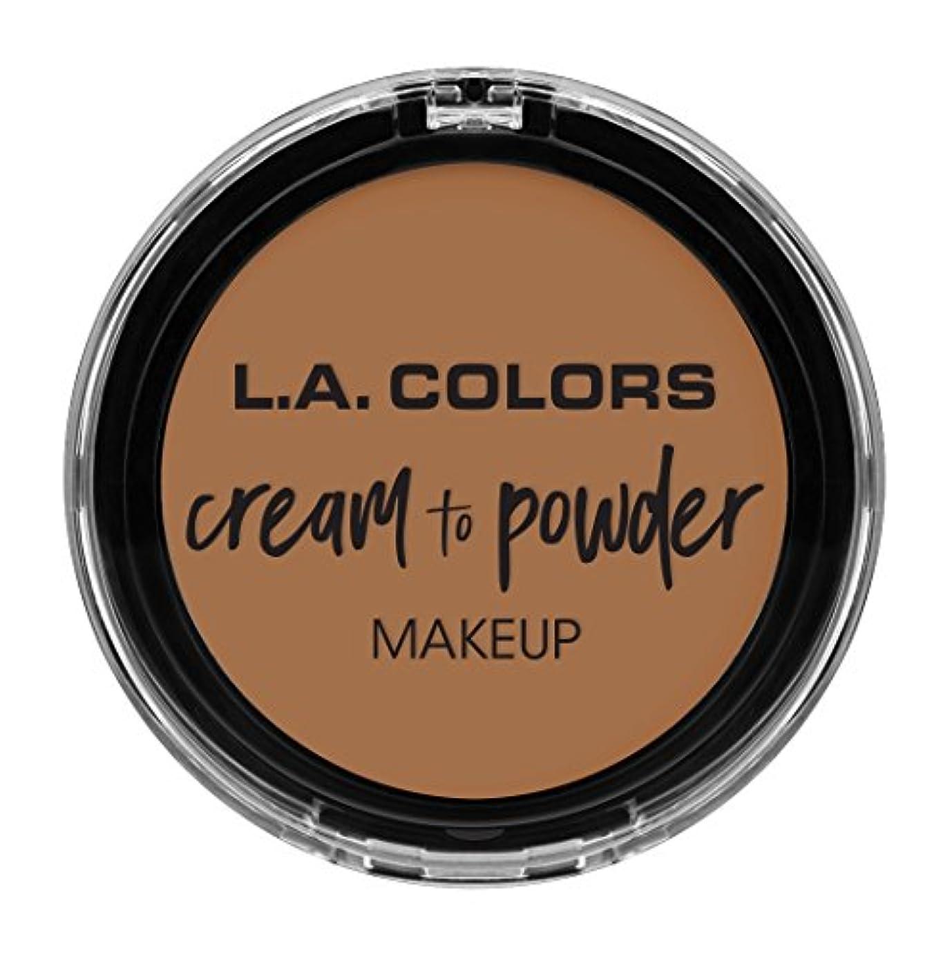 または侵入慣れているL.A. COLORS Cream To Powder Foundation - Soft Honey (並行輸入品)