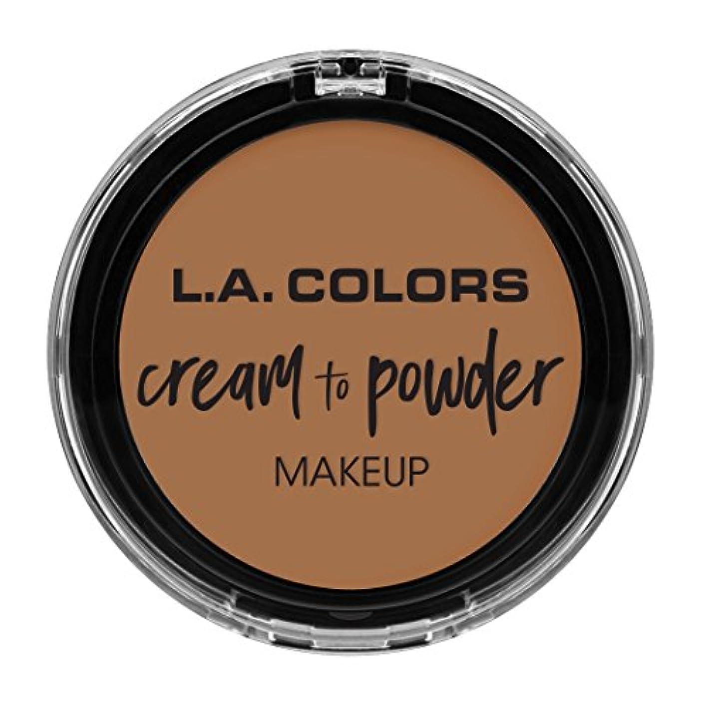 エチケット温度クライストチャーチL.A. COLORS Cream To Powder Foundation - Soft Honey (並行輸入品)