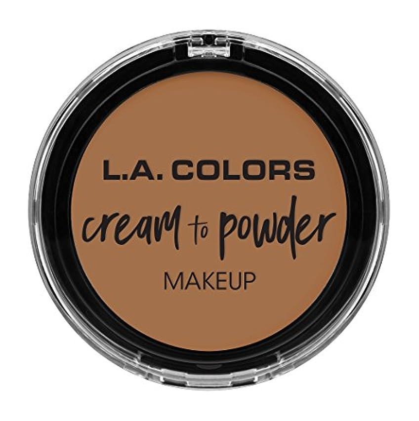 痛いメールを書く予想外L.A. COLORS Cream To Powder Foundation - Soft Honey (並行輸入品)