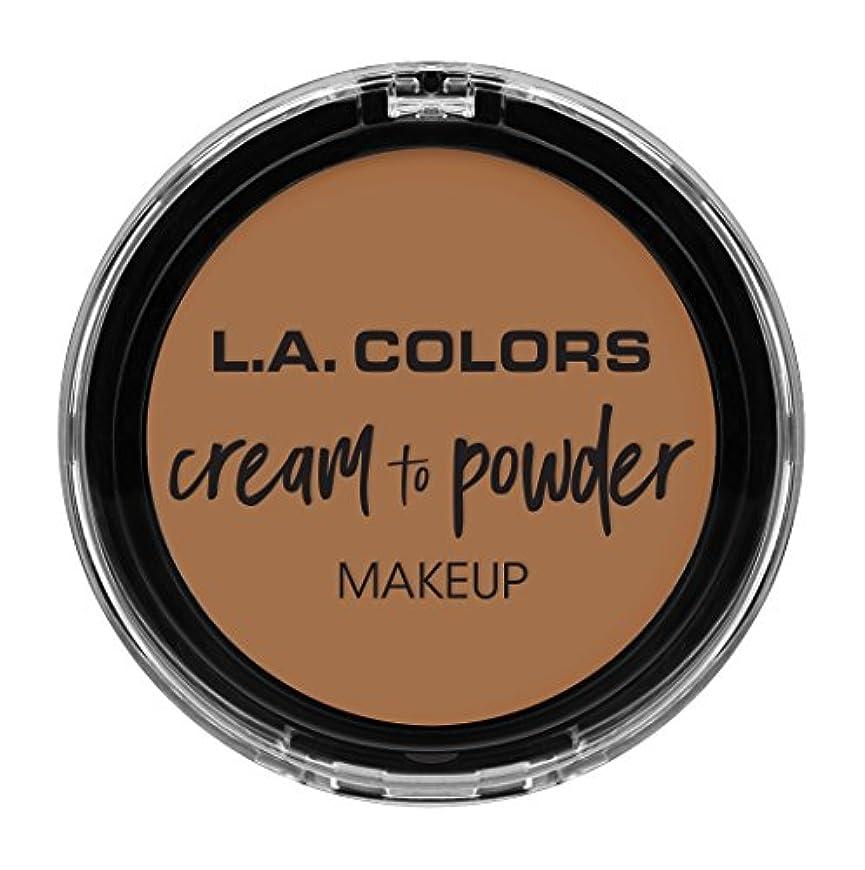 有能な溶岩解任L.A. COLORS Cream To Powder Foundation - Soft Honey (並行輸入品)