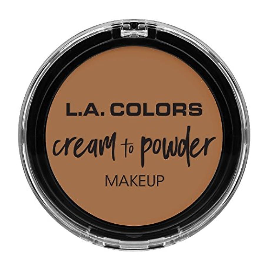 ボランティア温かい記念品L.A. COLORS Cream To Powder Foundation - Soft Honey (並行輸入品)