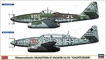 ハセガワ 1/72 ドイツ空軍 メッサーシュミットMe262V056 &Me262B-1a/U1 夜間戦闘機 プラモデル 02236