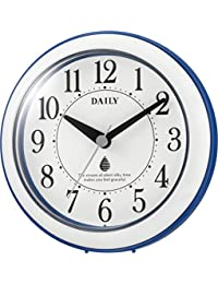 掛け時計 置き時計 防水 防塵 アクアパークDN ブルー リズム時計 4KG711DN04