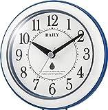リズム時計 置き ・ 掛け時計 防滴 防塵 アナログ アクアパークDN 青 DAILY ( デイリー )  4KG711DN04