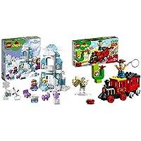 レゴ(LEGO) デュプロ アナと雪の女王 光る! エルサのアイスキャッスル 10899 &  デュプロ トイ・ストーリー・トレイン 10894 ディズニー ブロック おもちゃ 女の子 男の子 電車【セット買い】
