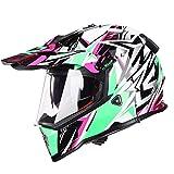 オフロード バイクヘルメット ヘルメット バイク用 バージョン ダブルシールド PSC付き  YHZ-98[商品01/XL]