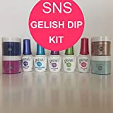 Gelish Dip SNS 4 Dipping Powders/Your Choice of Colours + 5 Liquids Nail Kit