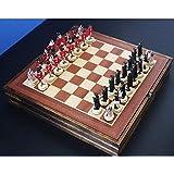 ZEYUGTIW 独立チェスセット 樹脂キャラクター 歴史的フィギュア チェス クラシック インターナショナル チェス