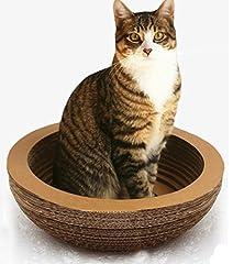 猫鍋型猫ベット思う存分爪とぎ!猫まっしぐら ボウル型