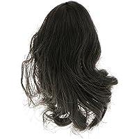 ノーブランド品 2個 1/6 黒 長い髪 ヘッドスカルプト 女性フィギュア 彫り 飾り 贈り物