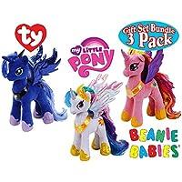 TY Beanie Babies My Little Pony Princess Cadence Princess Luna & Princess Celestia Gift Set Bundle - 3 Pack [並行輸入品]