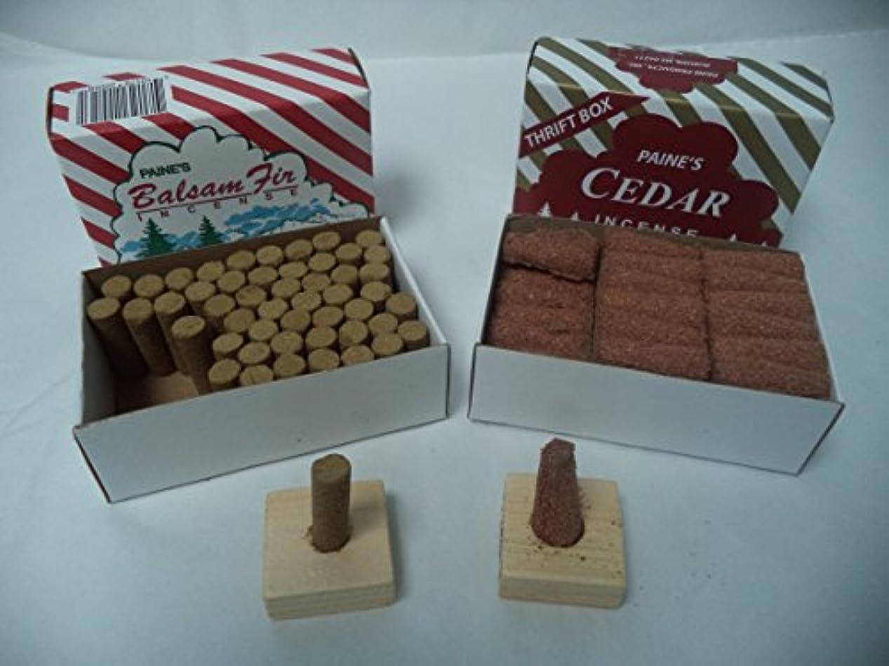 再集計キャンプペパーミントPaine 's Balsam Fir 50 Sticks + Red Cedar Cones 50 Cones : 100クリスマスIncence