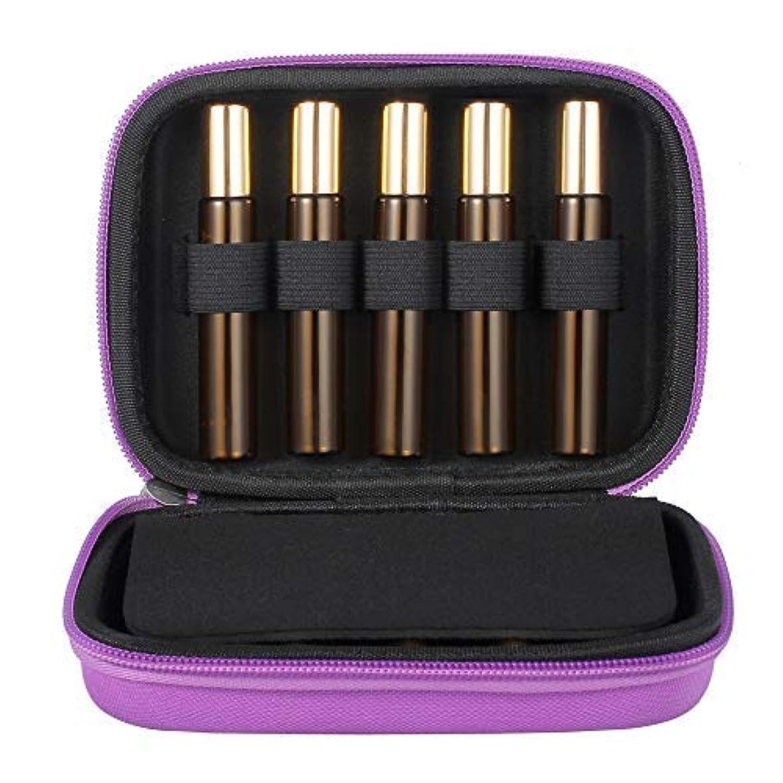盆保全複雑なTanice Essential Oil Case with 10pcs 10ml Roller Bottles Hard Shell Exterior EVA Essential Oils Storage Organzier...