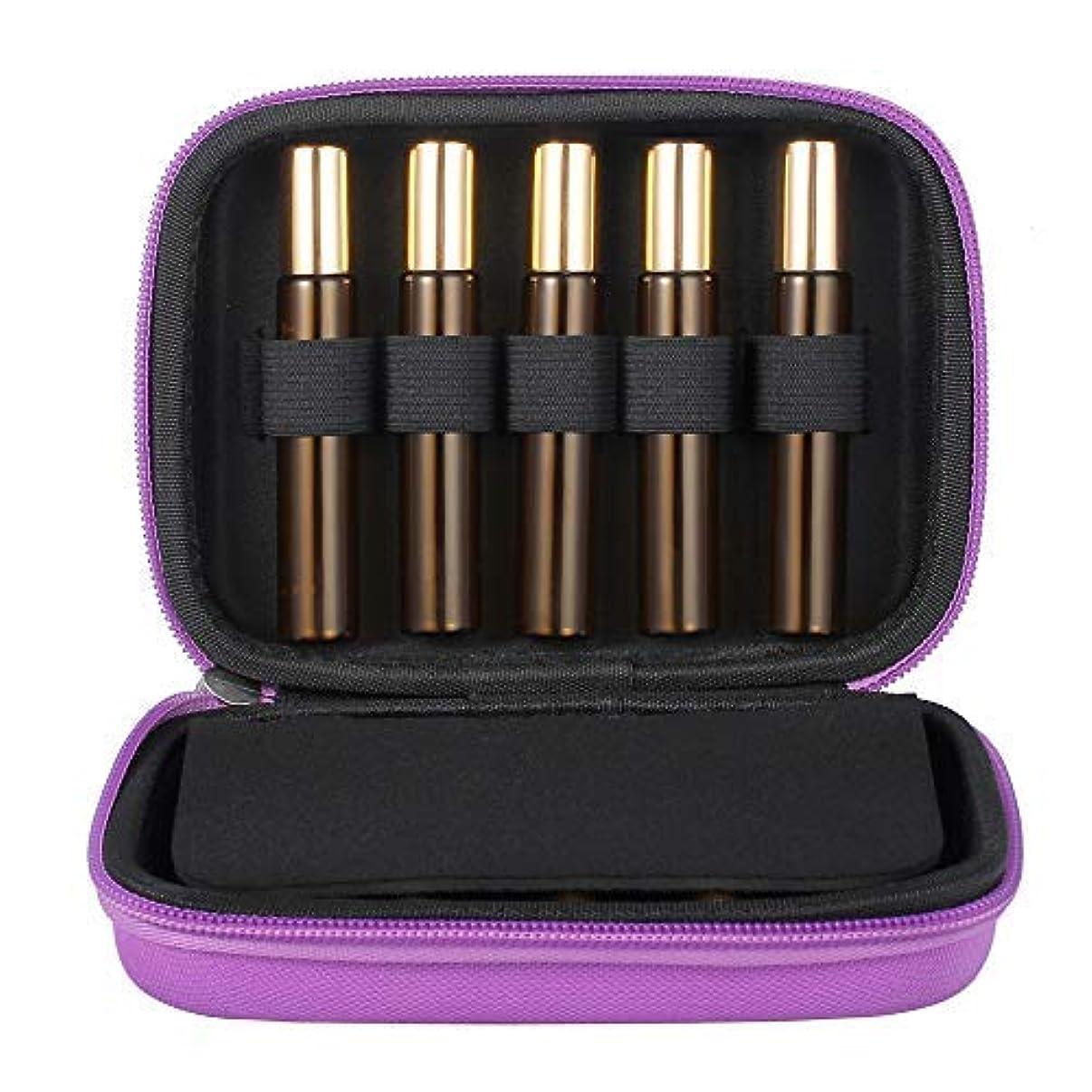 舗装長方形うめきTanice Essential Oil Case with 10pcs 10ml Roller Bottles Hard Shell Exterior EVA Essential Oils Storage Organzier...