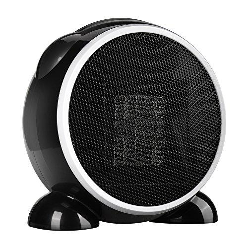 セラミックファンヒーター 500W 丸形 小型 Siuber 暖房器 温風&...