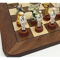 World War 2 US vs Japan Pearl Harbor Chess Set W/ 17