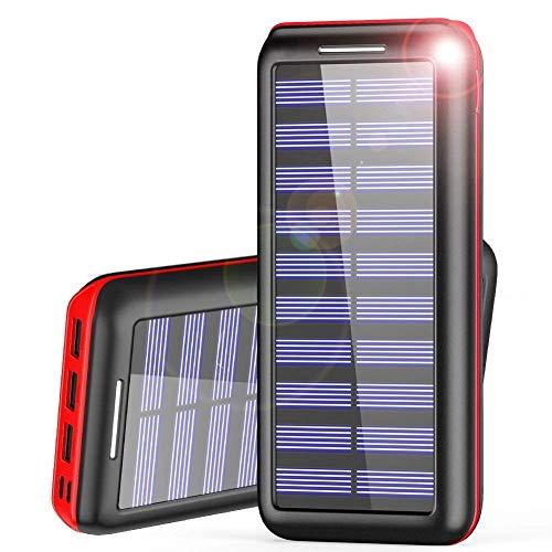 モバイルバッテリー 24000mAh 大容量 QuickCharge 2USB入力ポート 3USB出力ポート Android/Apple/iPad等に対応 災害/旅行/アウトドアに大活躍 災害/旅行/アウトドアに大活躍