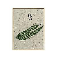 壁画のモダンなシンプルなレストランの装飾的な絵画中国のスタイルのリビングルームの絵画ダイニングルームの壁画キッチンペインティングホテル (Size : 40 * 60 CM, Style : N)