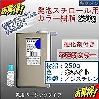 キクメン FRP発泡スチロール用カラー樹脂250g【白】硬化剤付き 汎用ベーシック