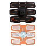 EMS腹筋ベルト Yoolaite 腹筋トレーニング 筋トレ フィットネスマシン 自動的に筋肉トレーニング 男女兼用 ダイエット 運動不足に向き 15段階調節 USB充電式 (BLACK)