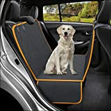 Active Pets Original Dog Back Seat Cover Protector Waterproof Scratchproof Hammock for Dogs Backseat Protection Against Dirt and Pet Fur Durable Pets Seat Covers for Cars Trucks SUVs