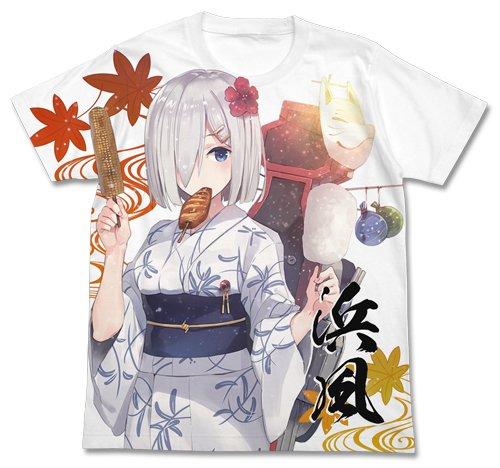 艦隊これくしょん -艦これ- 浴衣の浜風 フルグラフィックTシャツ ホワイト Lサイズ