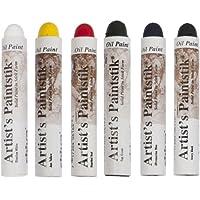 Jack Richeson Shiva Oil Paintstik, Basic Colors, Set of 6 by Jack Richeson