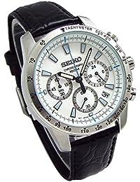 SEIKO クロノグラフ 腕時計 本革ベルトセット 国内セイコー正規流通品 ホワイト SSB025P1 [並行輸入品]
