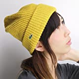 サマーニット帽/ラコステ/メンズ/レディース/帽子/麻100%/ゆったりシルエット/ワッチ/マスタード フリーサイズ