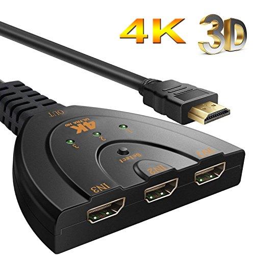 HUAKA HDMIきりかえ1080P最大 分配器 ゲーム機 ...