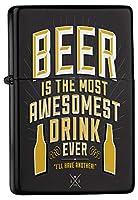 Petrol lighter ライター Printed best drink beer bottles