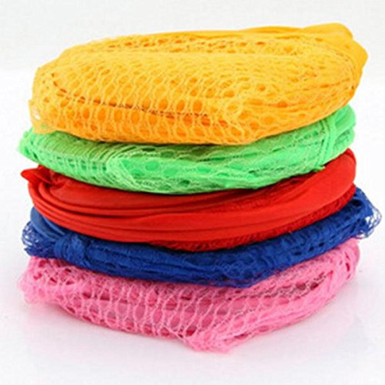 ノーブランド品  2個入り ホーム 折り畳み式 ランドリーバスケット 洋服収納バスケット 衣類 洗濯バッグ メッシュストレージ 2色選べる - ブルー