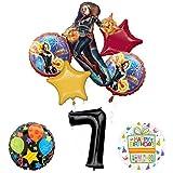 Mayflower Products キャプテンマーベル 7歳の誕生日パーティー用品 ジュビリーバルーンブーケデコレーション