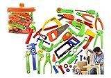 [Gallon's]ガロンズ プラスチック製 ツールボックス 工具箱 大工さん ごっこ遊び なりきり 知育玩具 工具 カーペンター おもちゃ 大工道具 収納できる 32点セット