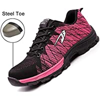 Safety Shoes, Steel Toe Cap Trainers Lightweight Mens Womens Safety Shoes Work Midsole Protection,11