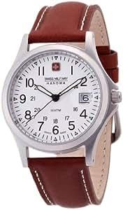 [スイスミリタリー]SWISS MILITARY 腕時計 クラシック ML/2 レザー 白文字盤 茶レザーベルトタイプ ユニセックス [正規輸入品]