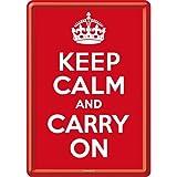 Keep Calm and Carry On / ポストカード(ブリキ製)