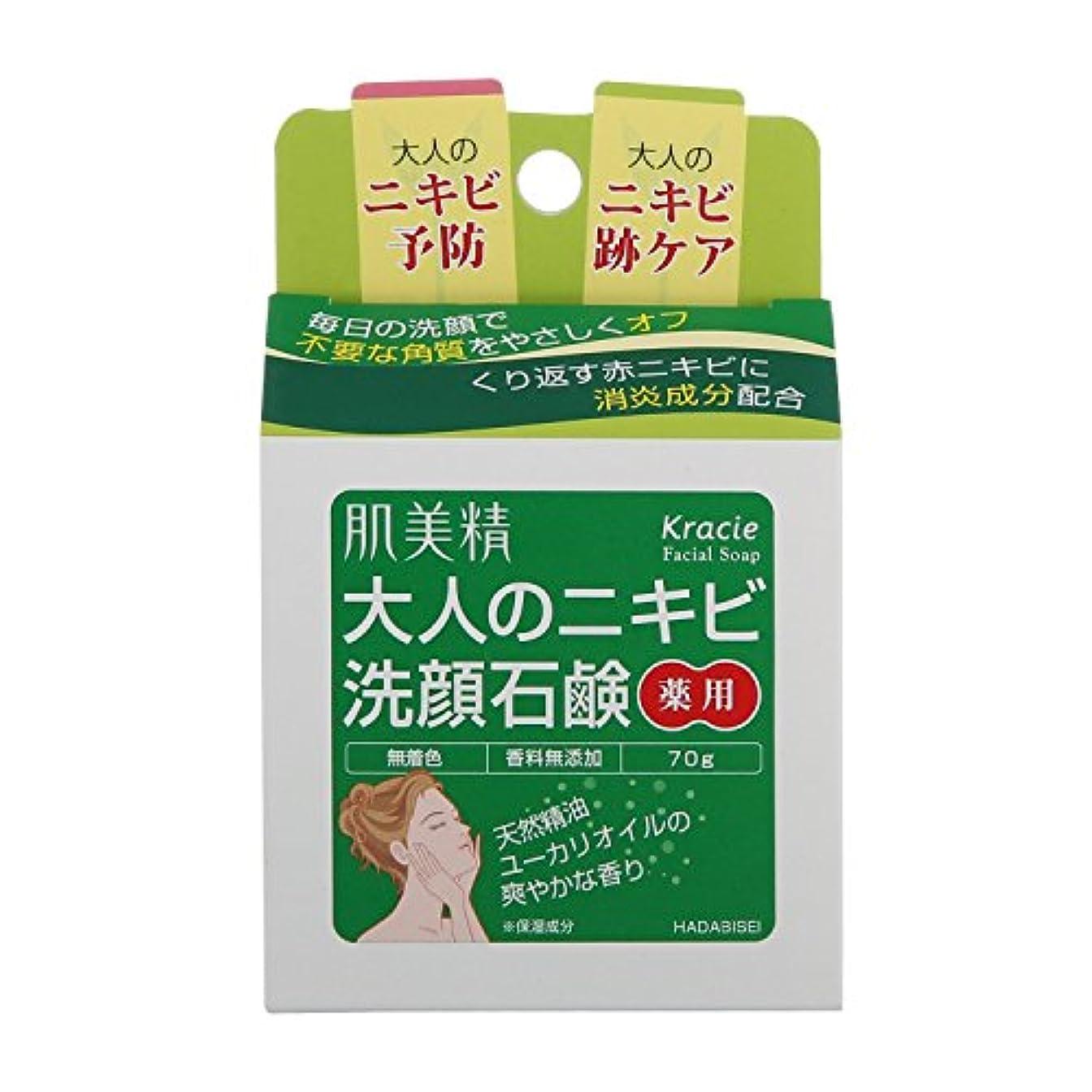 スクラッチ労働用量肌美精 大人のニキビ 薬用洗顔石鹸 70g ×6点セット