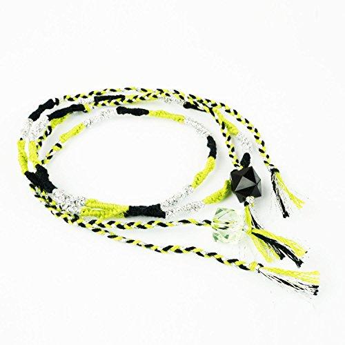 [해외][ATK21] 쌍 커플 미산 Missanga 여자 구두 여성 남성 부적 믹스 컬러 코드 발찌/[ATK21] Pair Couple Missanga Missanga Anklet Ladies Men`s Charm Charm Color Code Anklet