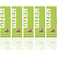 GIZEH(ギゼ) レギュラーシングル スーパーファイン スローバーニング 手巻きタバコペーパー 50枚入り×5冊パック 7-20001-61x5