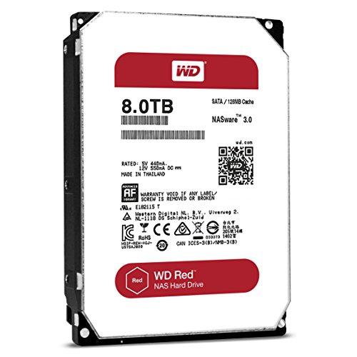 WD HDD 内蔵ハードディスク 3.5インチ 8TB WD Red NAS用 WD80EFZX 5400rpm 3年保証