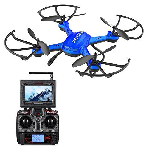 Potensic ドローン 液晶モニター付き HD空撮カメラ...