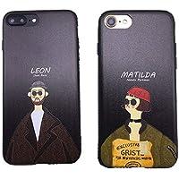 【Emikal】iPhoneXs レオン マチルダ シック ブラック オトナ iPhoneケース iPhone6/7/8/7plus/8plus スマホケース (iPhone7/8, LEON)