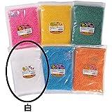 【わた菓子用 ザラメ】 色いろザラメ 白(1kg)  / お楽しみグッズ(紙風船)付きセット