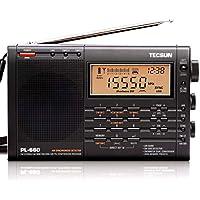TECSUN PL-660 黒 BCL 短波ラジオ FM/MW/SW/Air PSE100VACアダプター・日本語版説明書付属