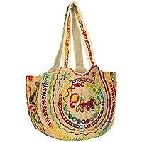 Colorful Floral Women Boho Fashion Shoulder Tote Bag Large Roomy School Book Laptop Market Casual