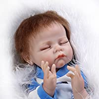 値スポーツNPKDOLL Sleeping LifelikeリアルなかわいいソフトSiliconeビニールRebornベビーガール人形Toy with Magneticダミー22インチ( 55 cm )