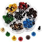 ACAMPTAR 人形のための70個の安全目 プラスチック 混合色 DIY 12mm 10mm 8mm - 10mm