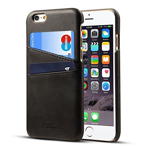 iPhone6s Plus ケース カード収納 Rssviss レザー 防指紋 軽量 アイフォン6s プラス カバー iphone6plus ケース ブラック